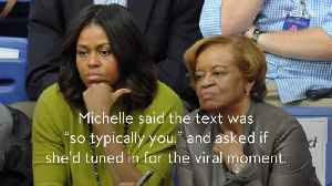 Michelle Obama's 81-Year-Old Mom Totally Shaded Her Via Text [Video]