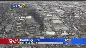 Two-Alarm Commercial Blaze Collapses Roof In Huntington Park [Video]