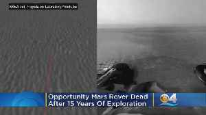 News video: Ferocious Dust Storm Dooms Mars Rover 'Opportunity' After 15 Years On Red Planet