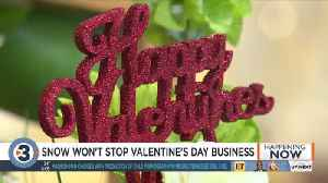 Local businesses confident snow won't stop Valentine's Day customers [Video]