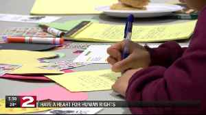 Herkimer College students wrote letters to stand in support of human rights [Video]