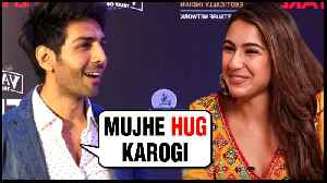 Kartik Aaryan Wants To HUG Sara Ali Khan And NOT Ananya Pandey [Video]