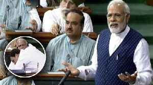 News video: PM Modi takes a jibe at Rahul Gandhi's hug in Lok Sabha | Oneindia News