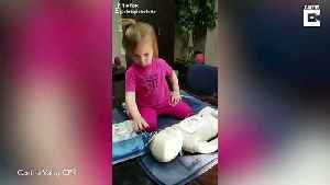 Staying aww-live: Adorable two-year-old learns how to do CPR [Video]