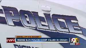 Rising Sun police chief killed in crash [Video]