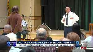 Acting Commissioner Harrison meets people in Cherry Hill [Video]