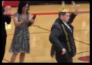 Student With Autism Overjoyed as He's Elected Homecoming King [Video]