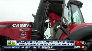 Day two of the Annual World Ag Expo: CASE IH Planter [Video]