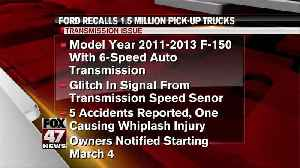 Ford recalls 1.5M pickups that can downshift without warning [Video]