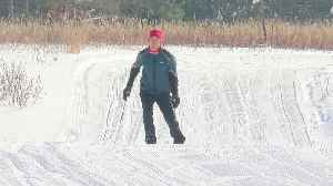 Cross-Country Skiers Rejoice Over Perfect Weather [Video]