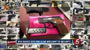 BNA stands out as TSA warns of growing problem of guns found at airport security [Video]