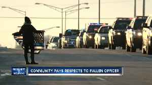 Hundreds line procession route for fallen Milwaukee officer [Video]