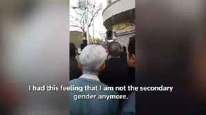 Iranian hijab protester 'did it for her daughter' [Video]