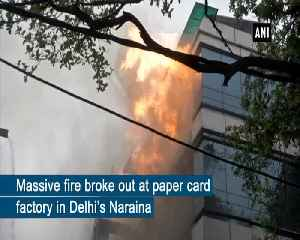 Fire breaks out at paper card factory in Delhi's Naraina [Video]