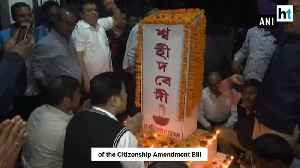 Asom Gana Parishad celebrates lapsing of the Citizenship Amendment Bill [Video]