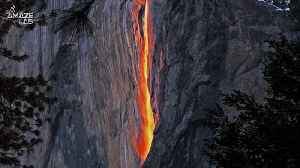 You Can Now Go See This Rare Waterfall That Seems To Be Raining Fire [Video]