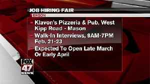 Over 200 Jobs Available at Two local Companies [Video]