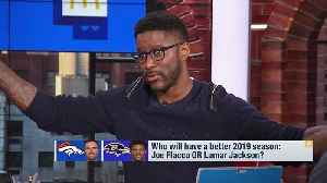 Denver Broncos quarterback Joe Flacco vs. Baltimore Ravens quarterback Lamar Jackson: Who will have the better season? [Video]