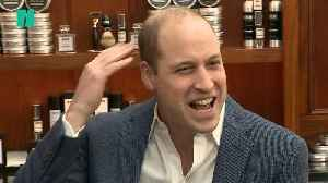 Prince William Jokes About Haircuts At 'Mental Health Barbers' [Video]