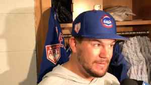 Kyle Schwarber on PECOTA's last-place prediction: 'I'm betting that won't happen' [Video]