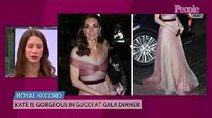 Day-to-Night Glam! Kate Middleton Steps Out in Dreamy Blush Gucci Gown After Busy Day of Outings [Video]