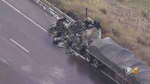 Semi Fire Causes Traffic Issues On I-70 [Video]