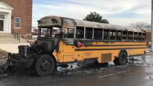 Baltimore charter school bus catches fire; no students injured, official says [Video]
