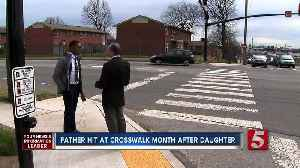 Hit-and-run victim's father hit by vehicle at same crosswalk [Video]