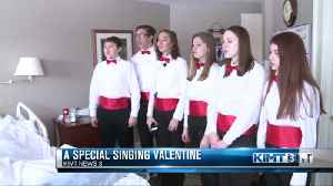 A Valentine's Day song brightens the halls of Hospice [Video]