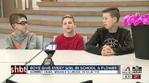 Three Middle School Boys Buy Valentine Flowers For All Female Students And Teachers [Video]