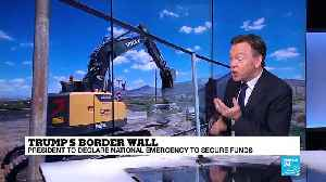 News video: Trump's border wall: why has Trump agreed to sign the border security bill?