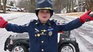 6-Year-Old Delivers Adorable PSA On Driving In Icy Weather [Video]