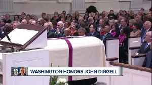 Members of Congress, former President pay tribute to John Dingell in Washington DC [Video]