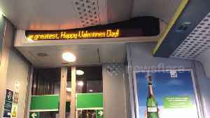 Cute Valentine's Day message on the train [Video]