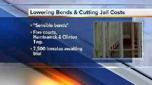Five Michigan courts will set reasonable bonds to reduce jail costs [Video]