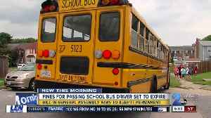 Lawmakers trying to make school bus passing fine permanent [Video]
