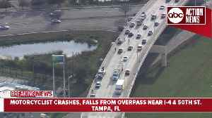Motorcyclist falls from Tampa overpass in fatal hit-and-run involving another motorcycle [Video]