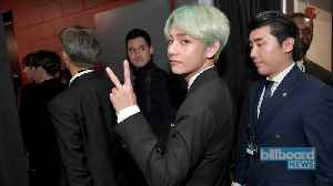 BTS' V Shows His Love for Cardi B at 2019 Grammys | Billboard News [Video]