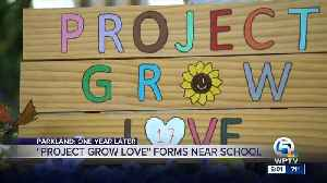'Project Grow Love' offers quiet place to reflect outside Marjory Stoneman Douglas High School [Video]