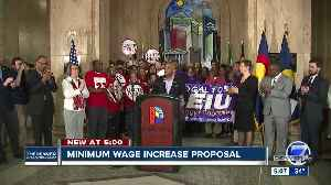 Denver Mayor Michael Hancock proposes raising minimum wage to $15 per hour for city employees [Video]