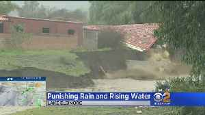 Fast-Flowing Creek Puts Lake Elsinore Homes At Risk Of Collapse [Video]