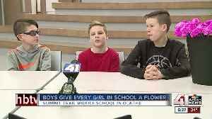 Olathe boys get Valentine's flower for every girl at school [Video]