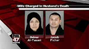 Wife charged with the death of her husband [Video]