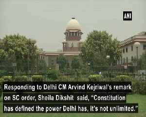 Power of Delhi is defined by Constitution Sheila Dikshit on Kejriwals remark on SC order [Video]