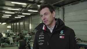 News video: Mercedes-AMG Petronas motorsport's tenth modern-day F1 car hits the track in Silverstone - Toto Wolff