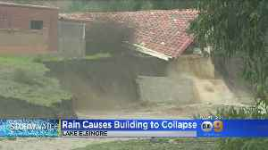 Lake Elsinore Homeowners Can Only Watch As Homes, Foundations Crumble Into Swollen Creek [Video]