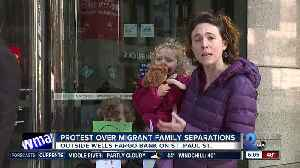 Families protest Wells Fargo for financing companies involved in immigrant detention [Video]