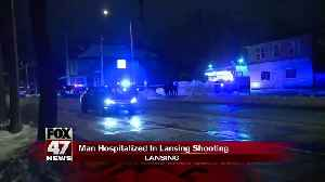 Man hospitalized after being shot in Lansing [Video]