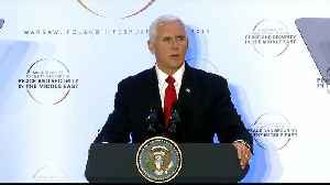 Middle East conference: Pence urges EU to quit Iran nuclear deal [Video]