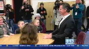 Gov. Newsom Visits Young Wildfire Victims In Butte County [Video]